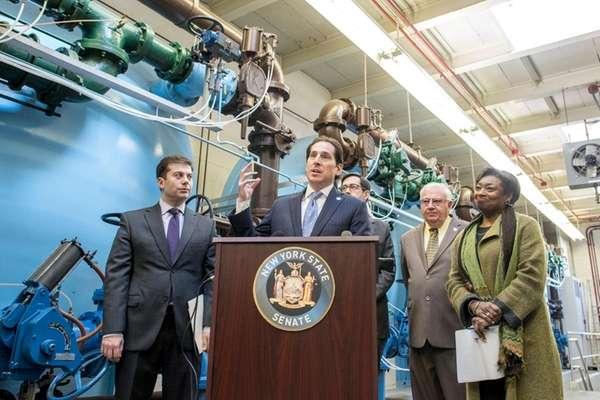 State Senator Todd Kaminsky speaks during a news