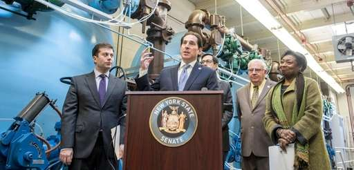 State Senator Todd Kaminsky speaks during a news