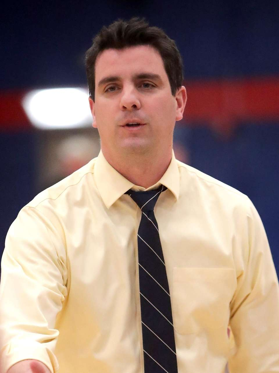 Cold Spring Harbor head coach Rory Malone looks