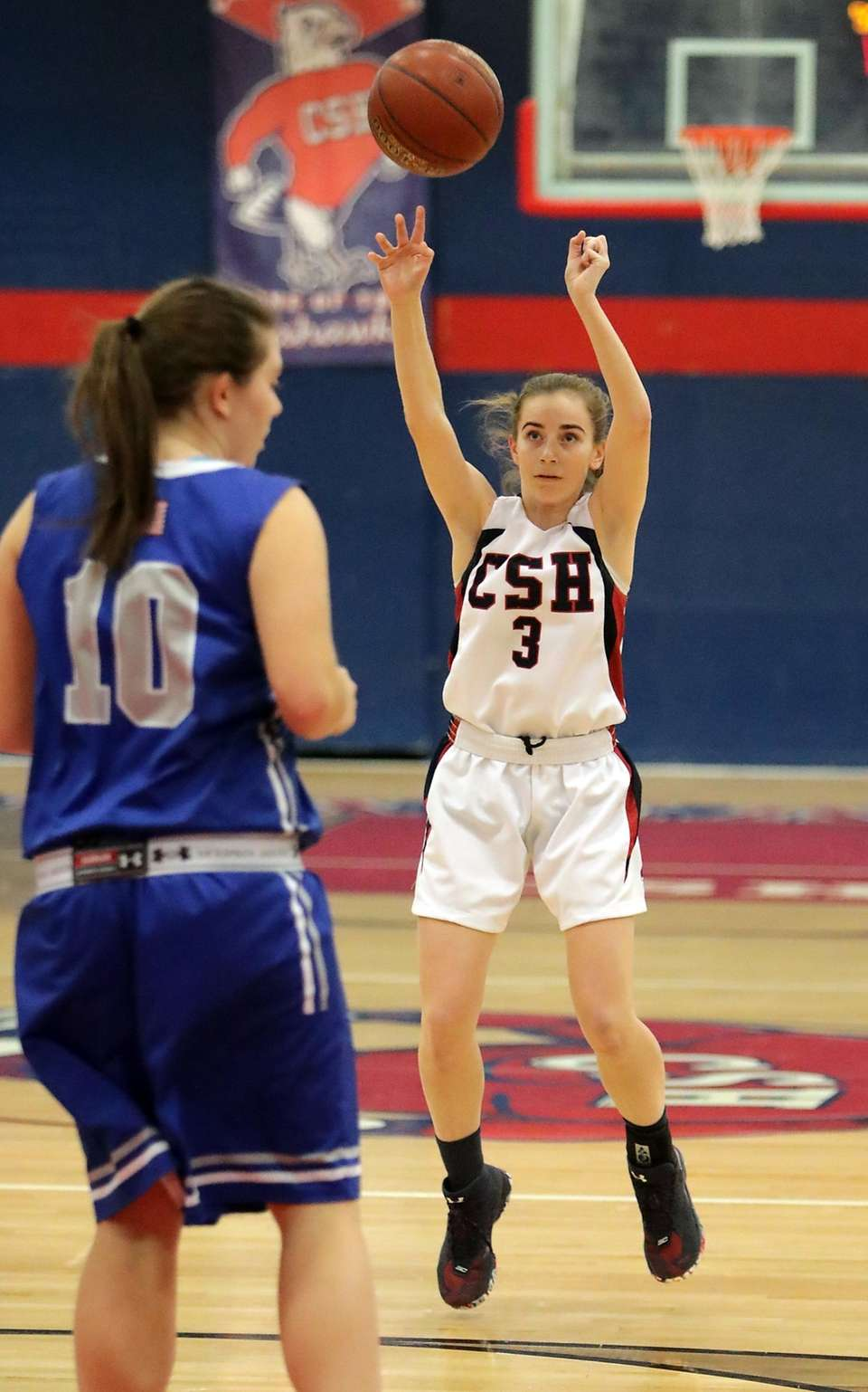 Cold Spring Harbor's Katherine Buonfiglio shoots for three