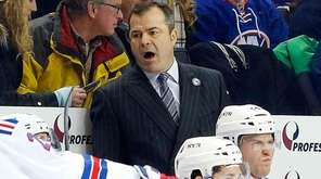 Head coach Alain Vigneault of the New York