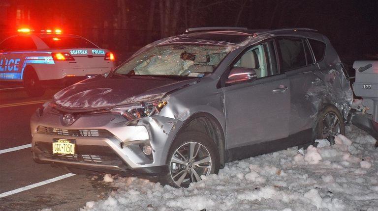 A multivehicle crash briefly shut Randall Road near