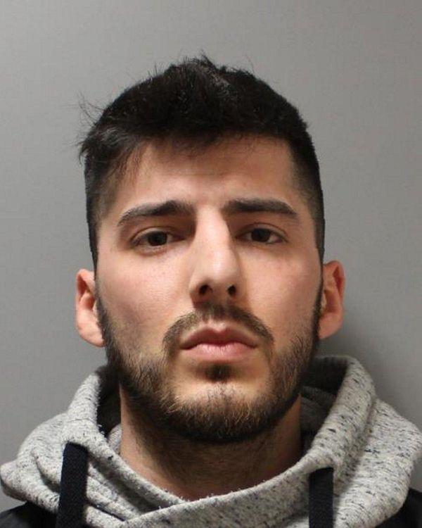 Marco T. Cashman, 26, of Westbury, was arrested