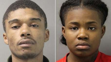 Curtis Jackson, 21, left, and Sahana Henry, 17,