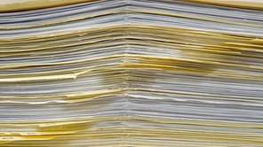 A file photo of paperwork in files.