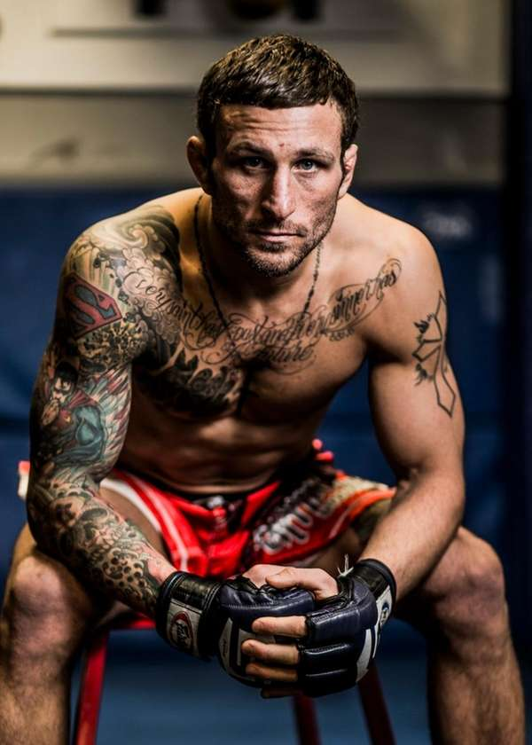 MMA fighter Gregor Gillespie poses for a photo