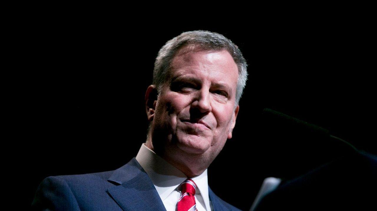 New York Mayor Bill de Blasio, seen as