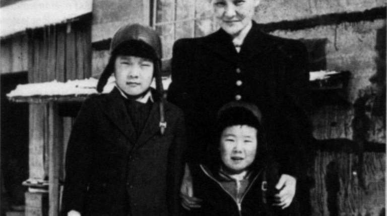 Henry Moritsugu, 8, and Ted, 3, with their