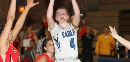 Kaitlin Cronin scores the winning basket with