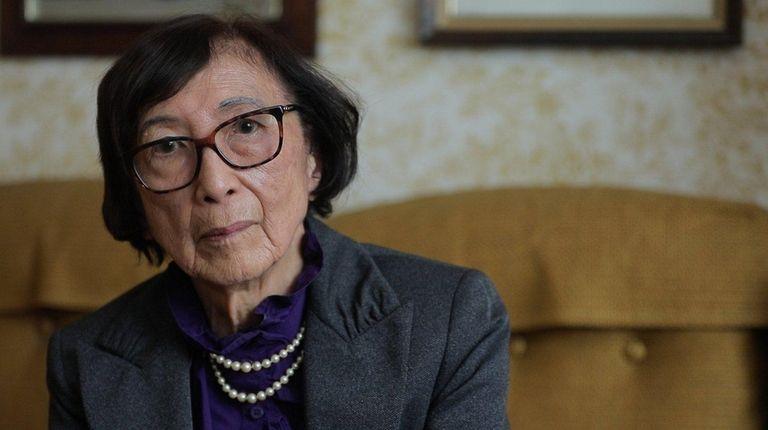 Mitsue Salador, 93, a retired West Islip schoolteacher,
