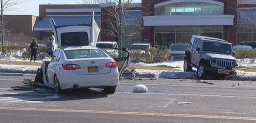Suffolk County police are investigating a serious crash
