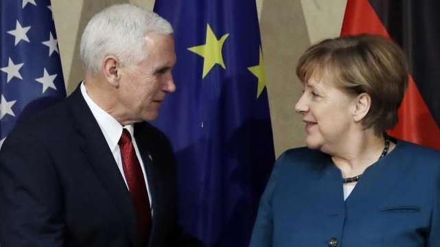 United States Vice President Mike Pence, left, and