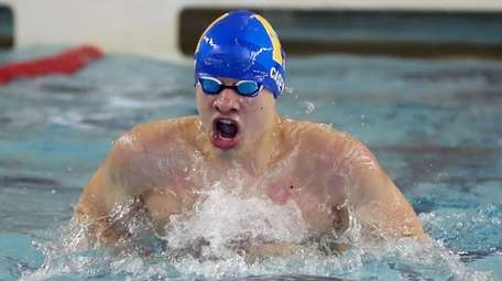 John H. Casey of Hauppauge competes in the