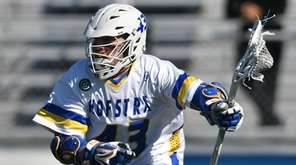Ryan Tierney #43 of Hofstra carries the ball