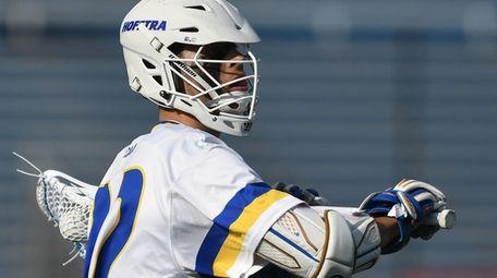 Josh Byrne #22 of Hofstra University makes a