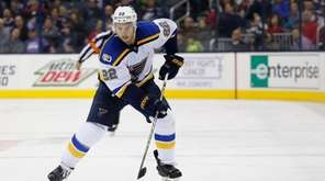 St. Louis Blues' Kevin Shattenkirk plays against the