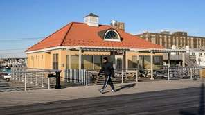 This cafe on the Long Beach boardwalk at