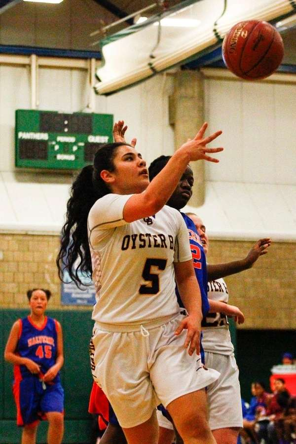 Oyster Bay's Gianna Gotti, #5, shoots the ball