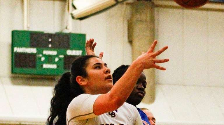 Oyster Bay's Gianna Gotti, #5, shoots the ball