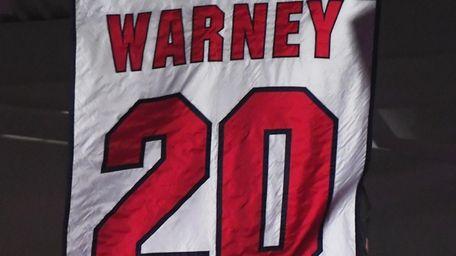 Stony Brook unfurls the No. 20 jersey of