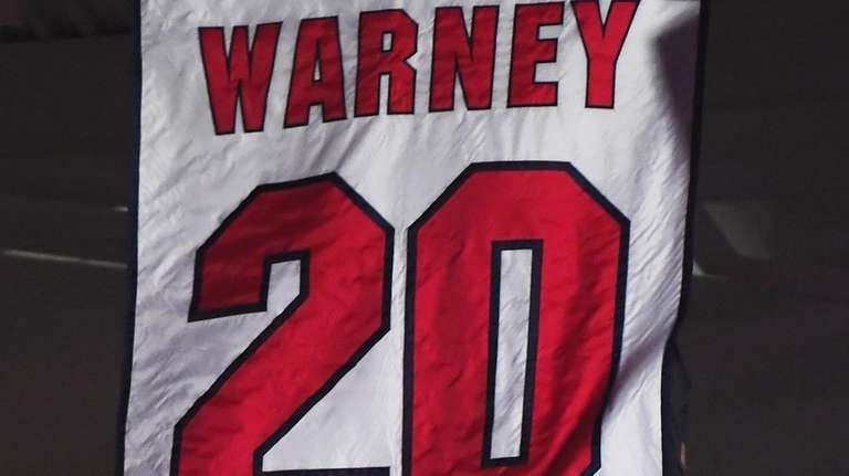 Stony Brook unfurls the No. 20 jersey of