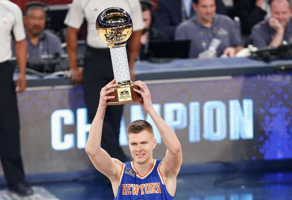 308a5facb Kristaps Porzingis  6 of the New York Knicks