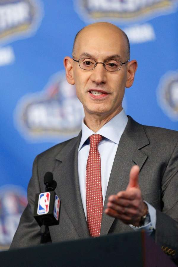 NBA Commissioner Adam Silver speaks with the media