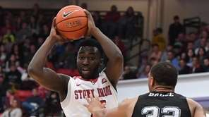 Stony Brook guard Akwasi Yeboah, who had 19