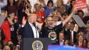 President Donald Trump introduces Gene Huber -- a