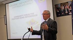 Northport-East Northport Superintendent Robert Banzer discusses a proposed