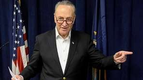 Sen. Chuck Schumer held a news conference on