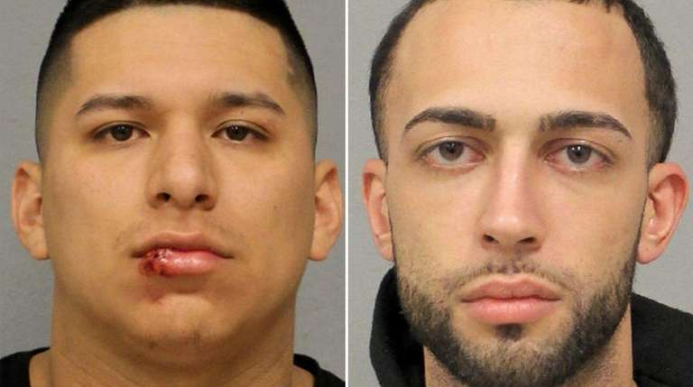 Pedro P. Barriga, 21, of East Meadow, left,