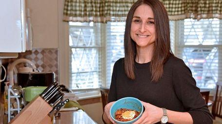 Jen Kosich of Wantagh tops her black bean
