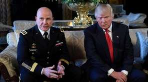 Army Lt. Gen. H.R. McMaster with President Donald