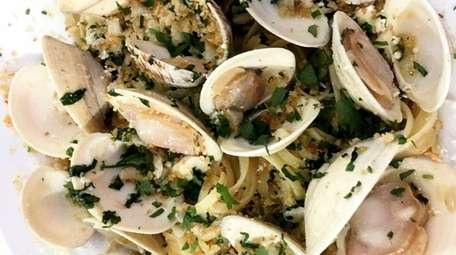 Clams with linguine is one of the pasta