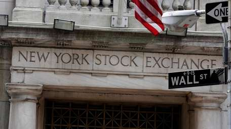 A view of the Wall Street entrance of