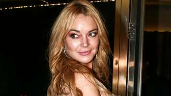 Lindsay Lohan attends the opening night of Lohan