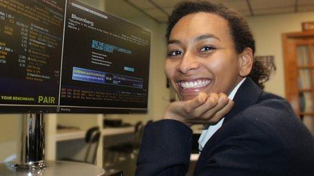 Jenay Valentine, a senior at Sacred Heart Academy