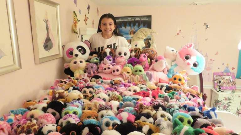 Kidsday reporter Madison Duffy with her Beanie Boos