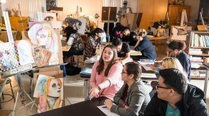 Students at William Floyd High School in Mastic