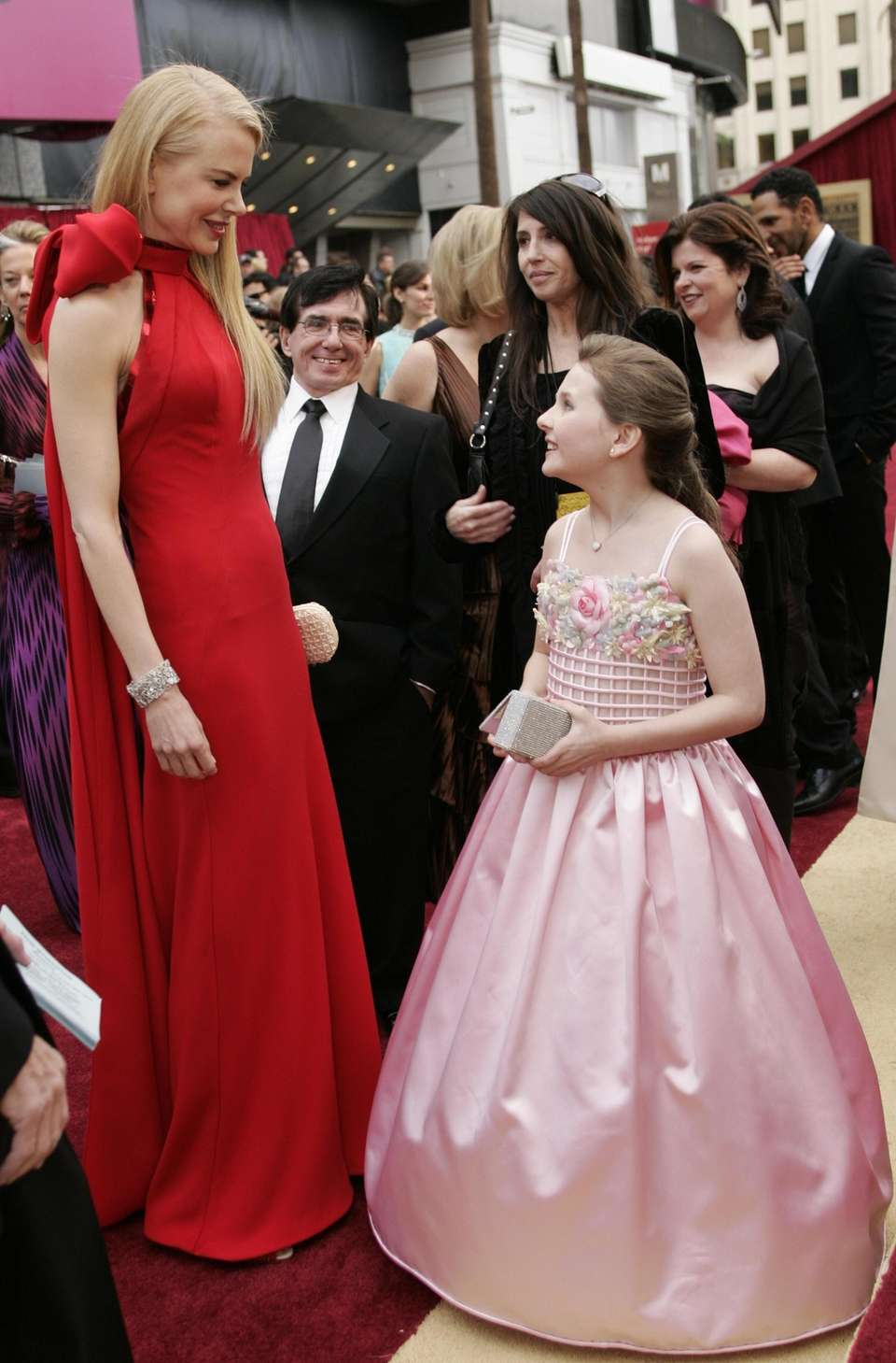 Nicole Kidman, left, chats with Abigail Breslin, who