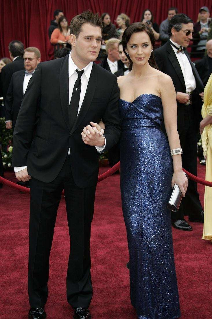 Emily Blunt, in Calvin Klein, with then boyfriend