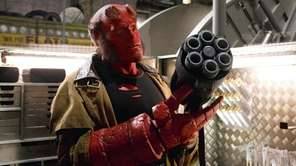 Ron Perlman as Hellboy. Director Guillermo del Toro