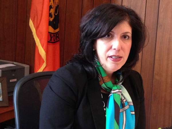 Nassau County District Attorney Madeline Singas speaks to