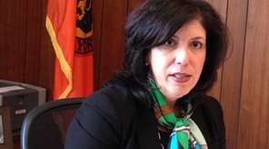 Nassau County District Attorney Madeline Singas speaks to