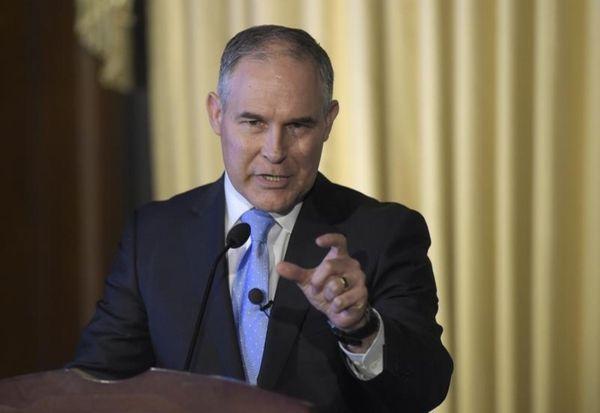 Environmental Protection Agency Administrator Scott Pruitt speaks in