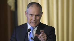 Environmental Protection Agency Administrator Scott Pruitt speaks in
