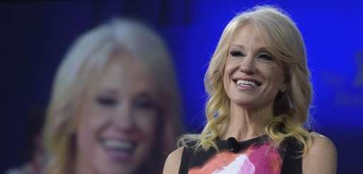 White House counselor Kellyanne Conway speaks at the