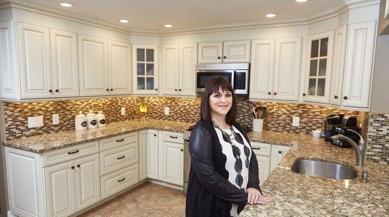 Kate Weglarz in the kitchen of her farm-ranch