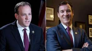Reps. Lee Zeldin (R-Shirley), left, and Thomas Suozzi